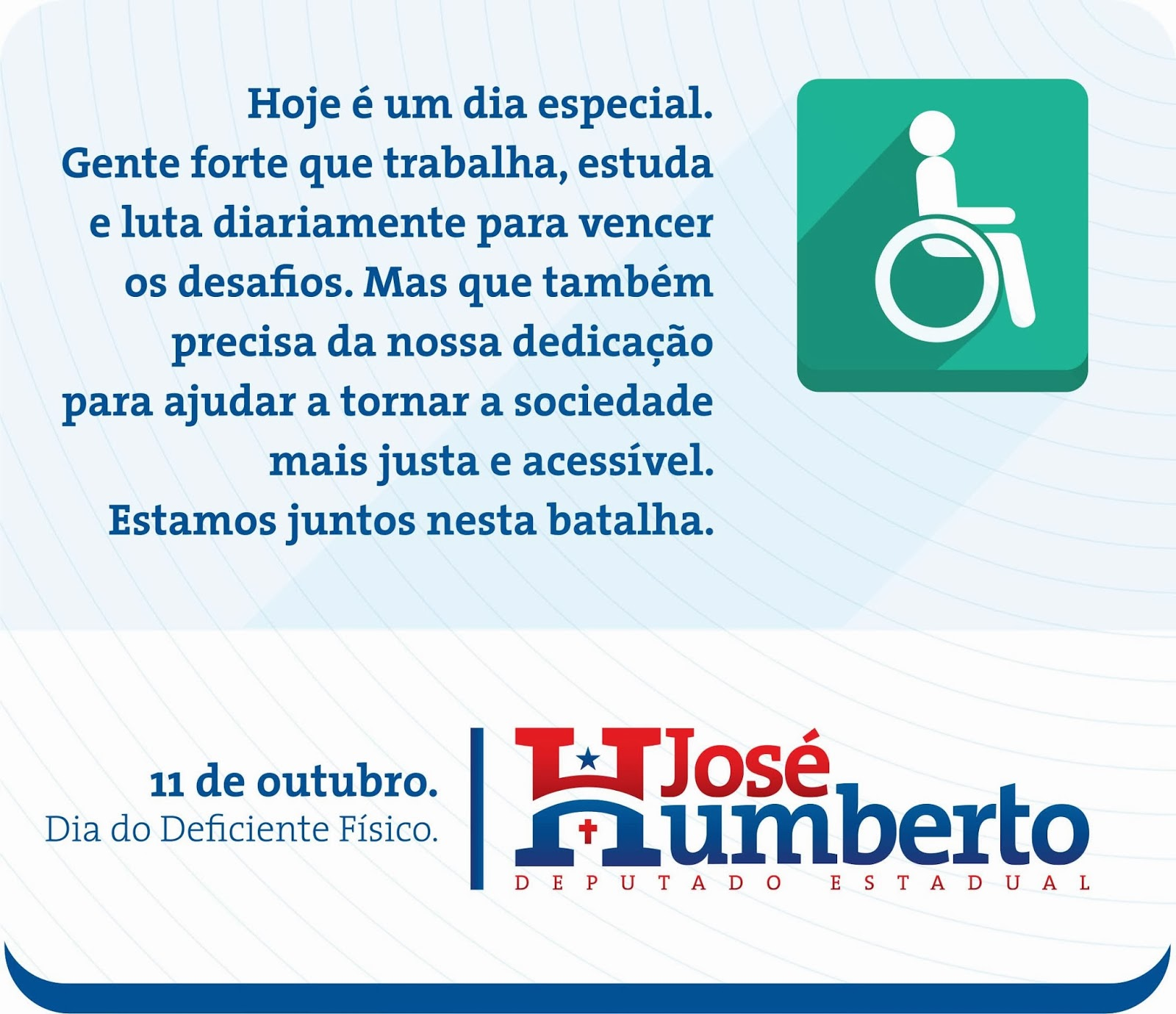 dia do deficiente físico o chamado deficiente físico já não é  #03488C 1600 1380