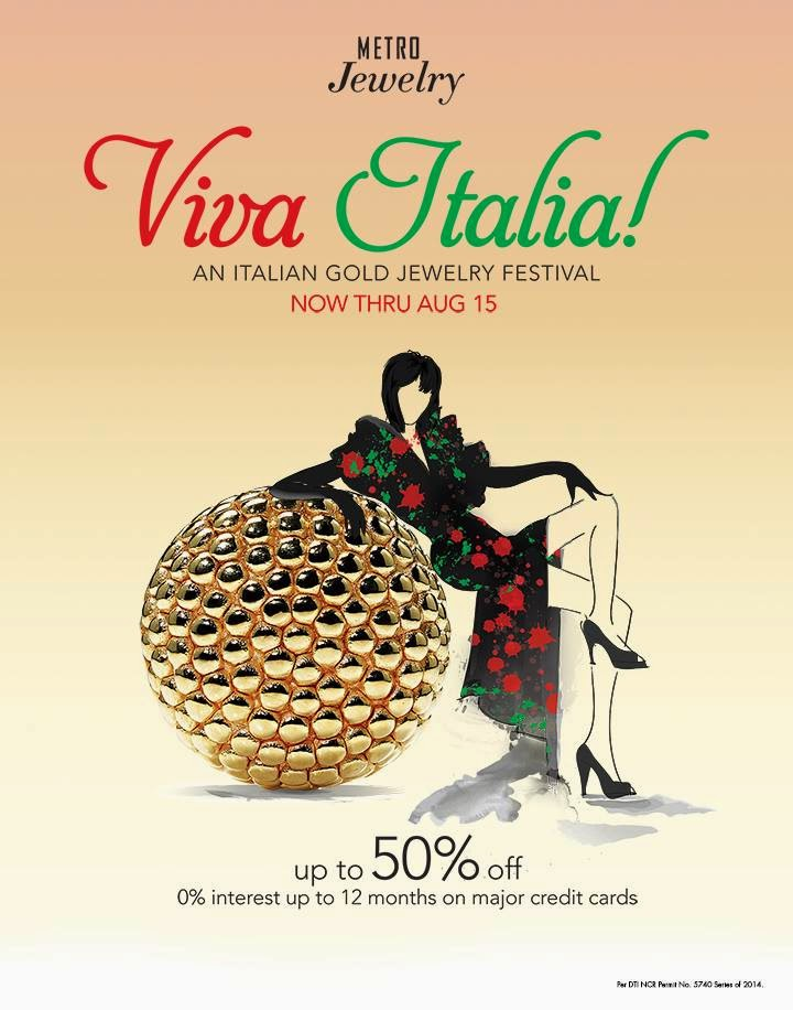 Manila Shopper Metro Stores Italian Gold Jewelry SALE July 2014