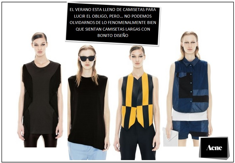 camisetas largas acne
