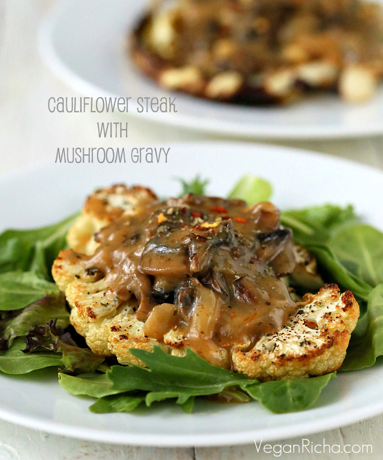 ... Steaks with Mushroom Gravy. Vegan Glutenfree Recipe - Vegan Richa