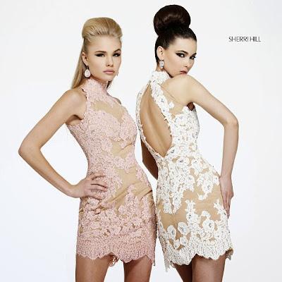 Бални рокли с дантела и телесна подплата Sherri Hill 2014