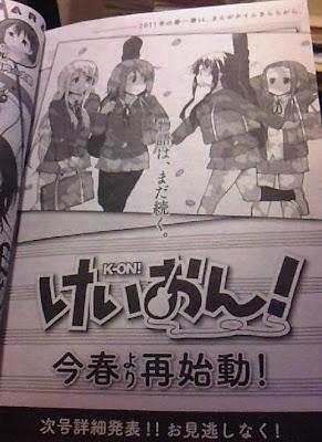 K-ON! Manga retorno kakifly Times Kirara