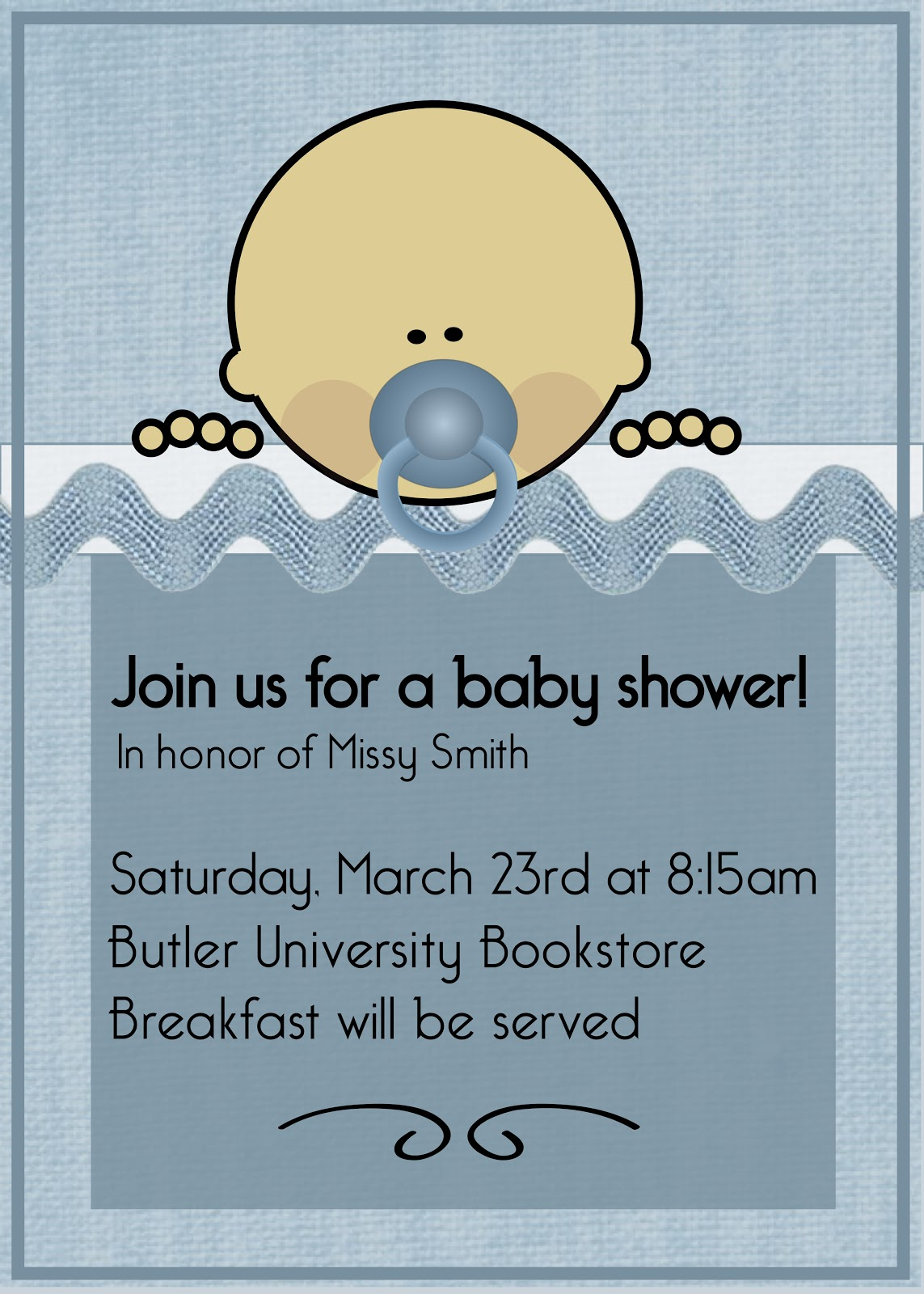 Amber Mills Baby Shower Invite