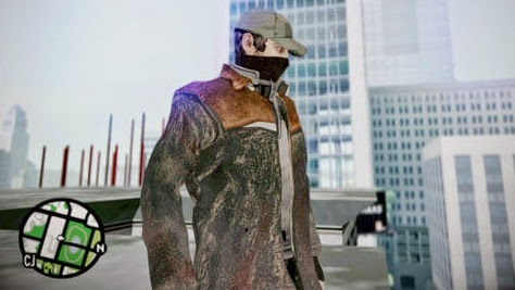 Aiden Pearce from Watch Dogs - GTAind - Mod GTA Indonesia