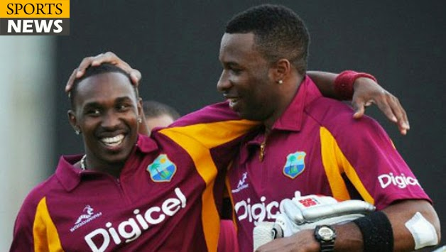 Kieron Pollard and Dwayne Bravo (West Indies):