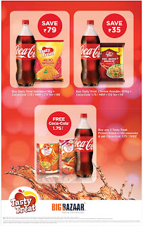 TastyTreat Dhamaka offer at BigBazar | BigBazar festive offers with cococola | Christmas offers
