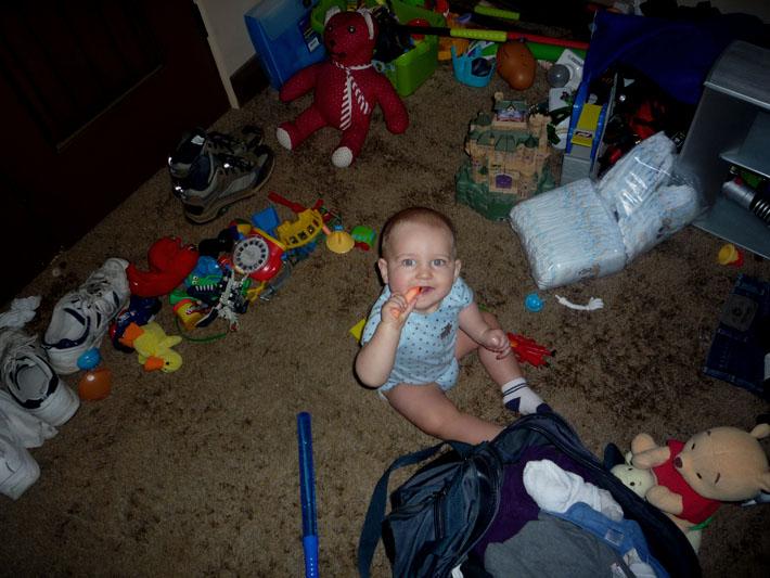 Tristan in toy heaven