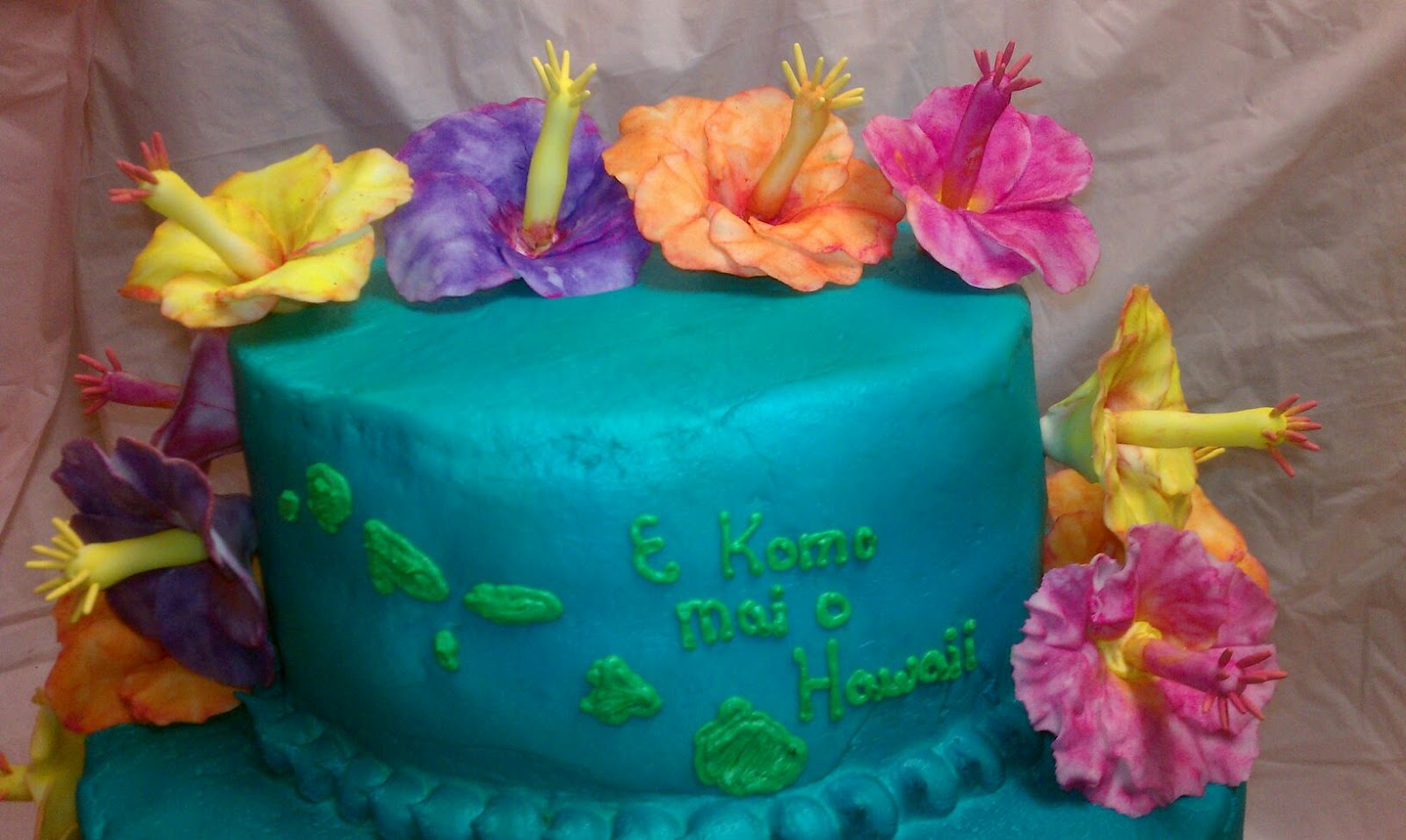 Tasty Pastry Cakes And More Luau Cake
