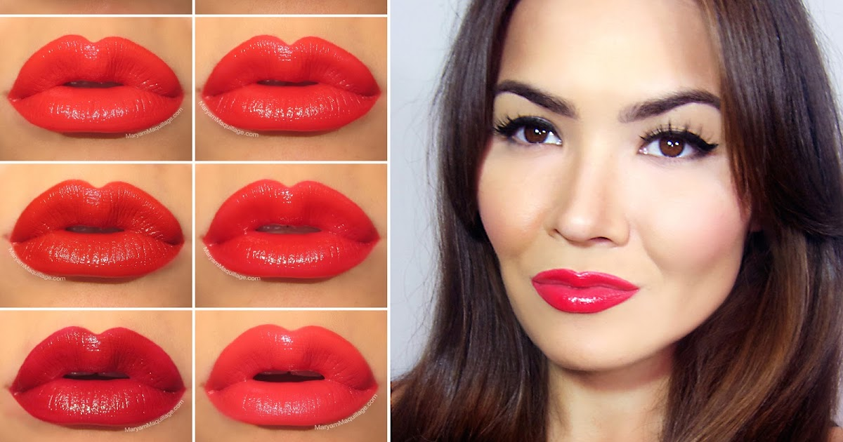 Maryam Maquillage: My Top 10 Red Lipsticks for Valentine's Day