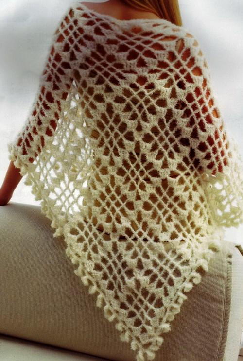 Easy Crochet Patterns For A Shawl : Stylish Easy Crochet: Crochet Shawl for Women