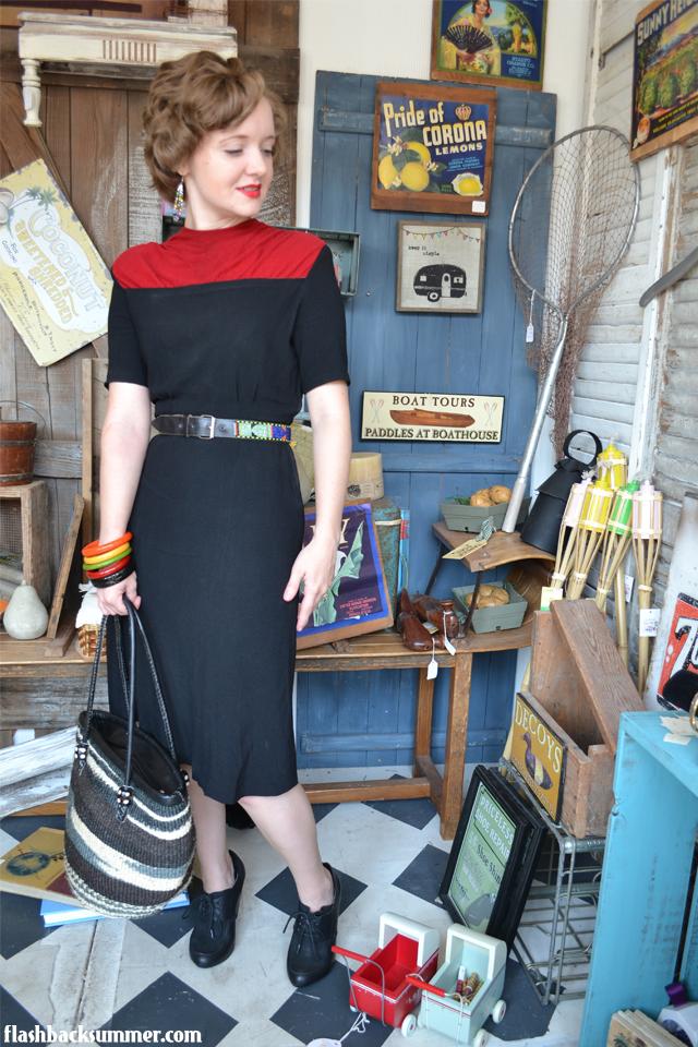 Flashback Summer: Flea Market Day - Spring Creek Tea Room, 1940s outfit