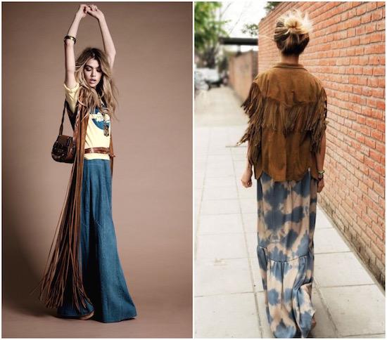 Одежда с бахромой