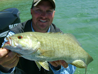 Smallmouth Bass fishing on the Muskegon River.  Betts Guide Service