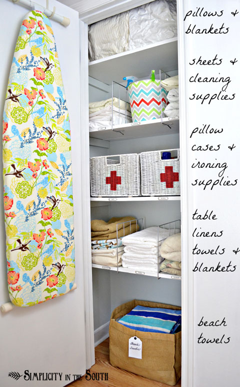 Iheart organizing reader space a lively linen closet for I heart organizing