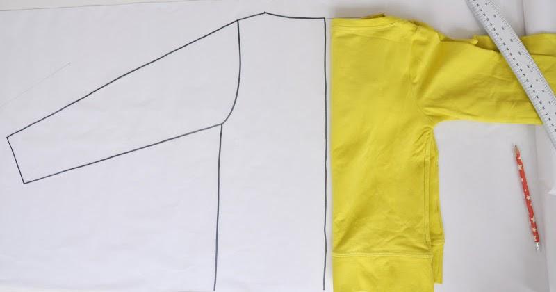 Teken zelf het patroon voor een raglanbloesje for Ontruimingsplattegrond zelf tekenen