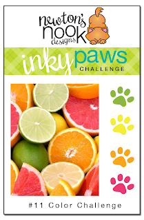 Inky Paws Challenge #11 - Citrus Color Challenge - Newton's Nook Designs