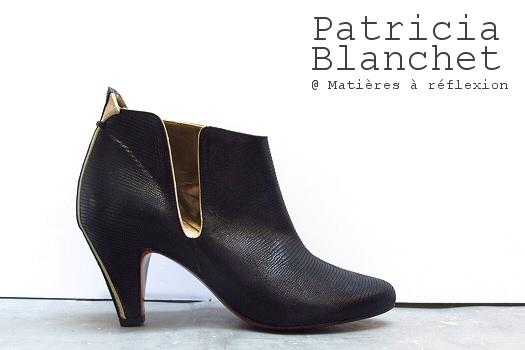 Low boots cuir martelé Patricia Blanchet