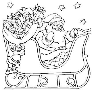 imagens para colorir papai noel - Desenhos lindos de Papai Noel pra pintar imprimir colorir!