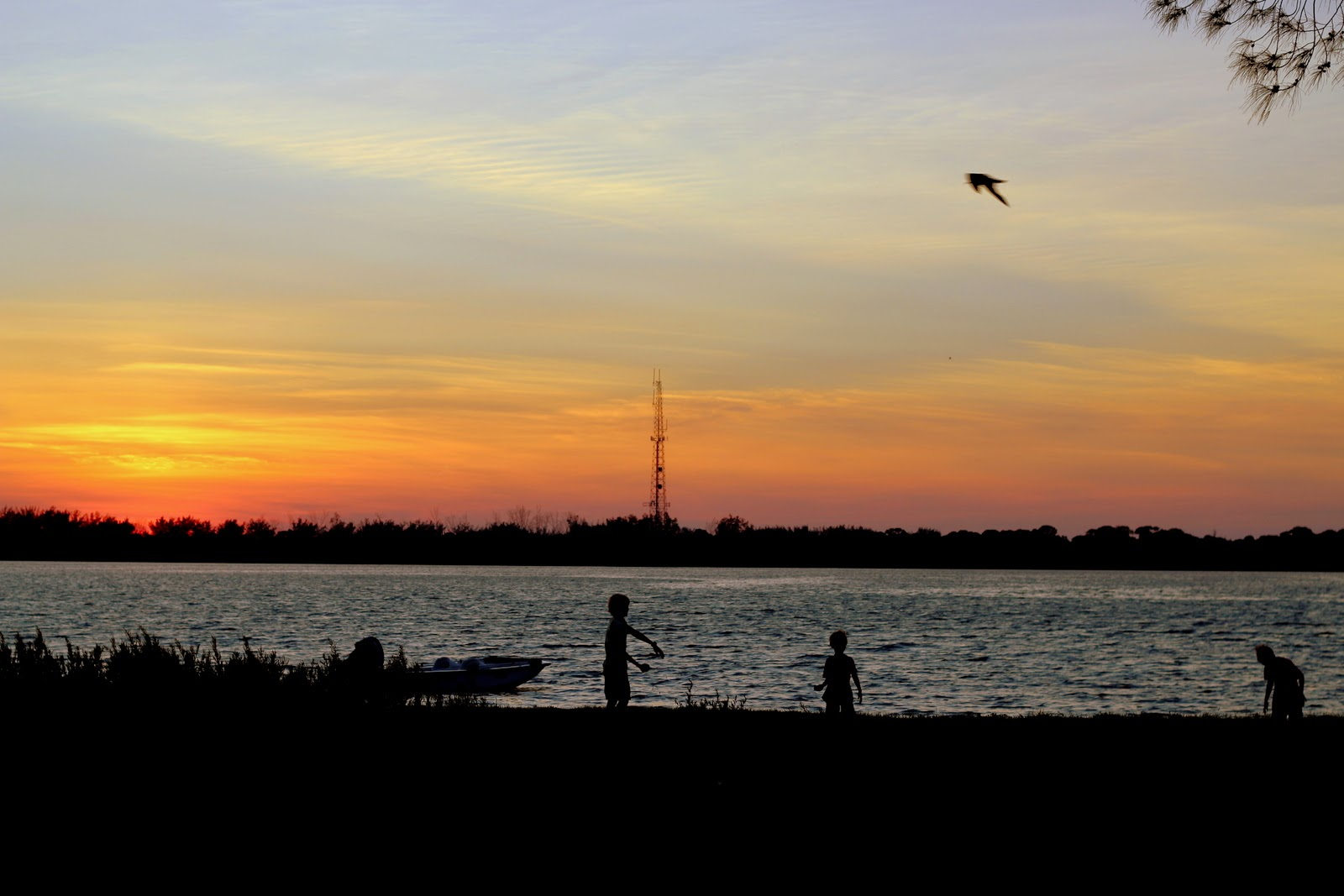 Because I'm Me, Fort DeSoto County Park sunset from our campsite