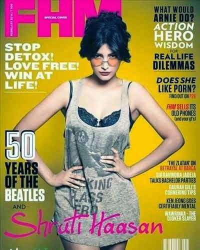 Shruti Hassan Sizzling Hot Stills For FHM Magazine