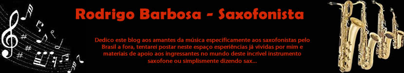 Rodrigo Barbosa - Saxofonista