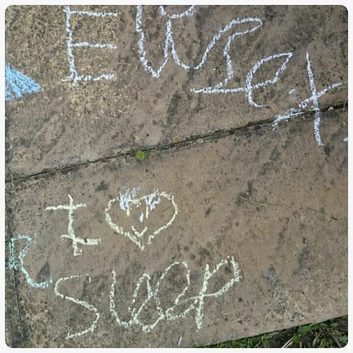 chalk writing