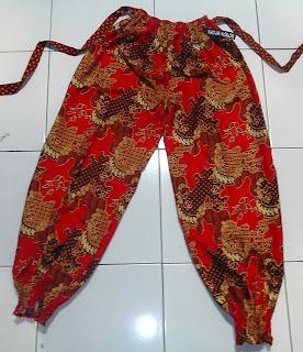 celana aladin batik