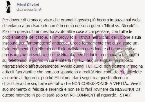 Micol Olivieri Facebook