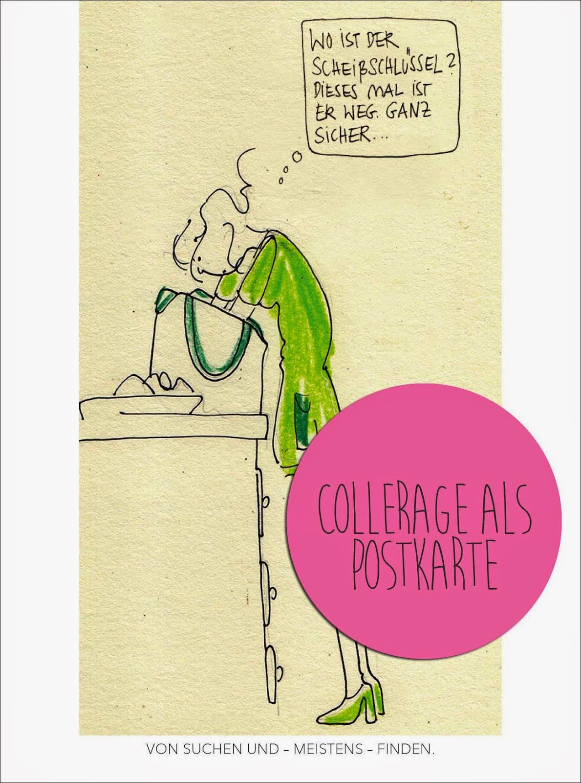 Collerage als Postkarte