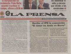 NOTA EL AMOR NO ANDA EN BURRO