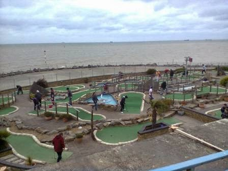 A view of the 18-hole Strokes Adventure Golf course in Margate, Kent