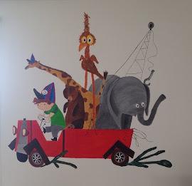 Muurschildering Pluk van de Petteflet