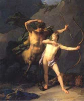 centaur Chiron and young Achilles