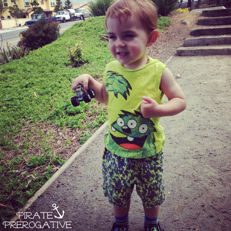 Awe, what a little monster. See what my toddler pulled off this time.| Shiver Me Timbers Tuesday