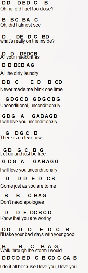 Flute Sheet Music: Unconditionally