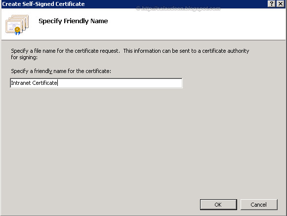 sharepoint add ssl certificate friendly name