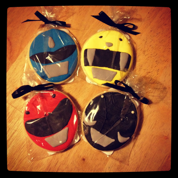 Power Ranger Cookie Cake Ideas and Designs