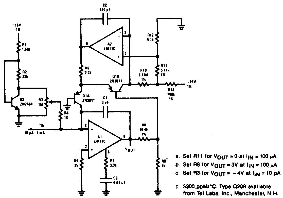 logarithmic amplifier circuit diagram
