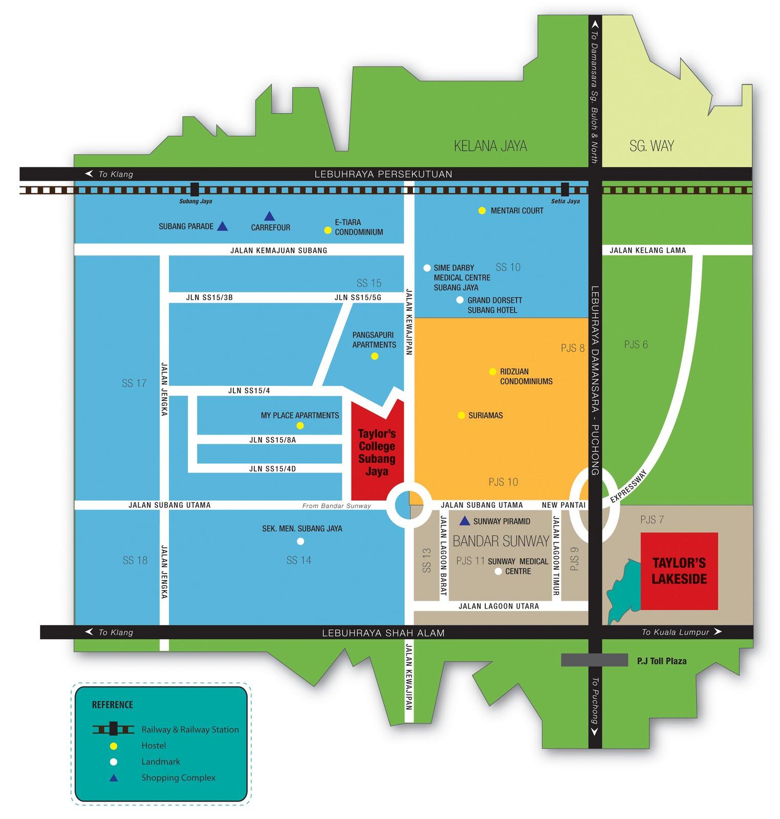 HEAR US OUT 6 MAP TO TAYLORS COLLEGE SUBANG JAYA