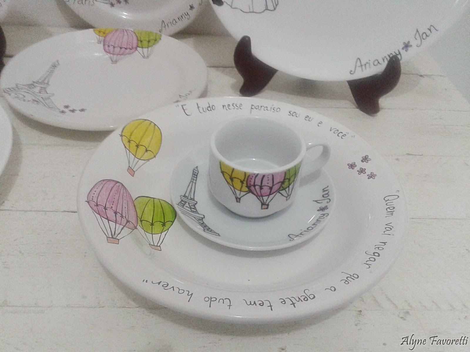 Alyne Favoretti: Aparelho de jantar Amor em Paris com caricatura #91863A 1600x1200