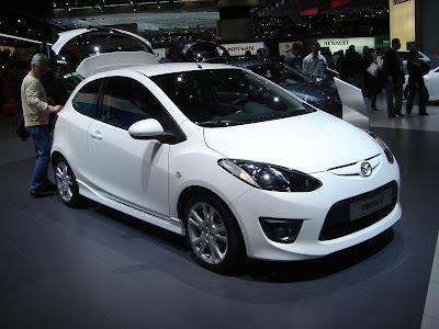 Mazda on Front Side View Of White Color Mazda Mazda2