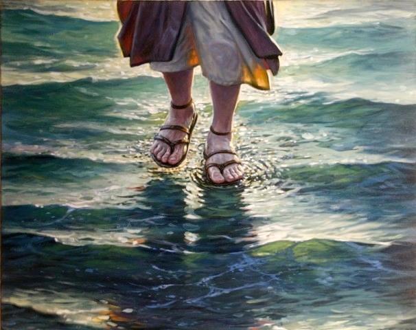 chrześcijanin: Jezus chodzi po wodzie Ew. Mateusz 14,22-33