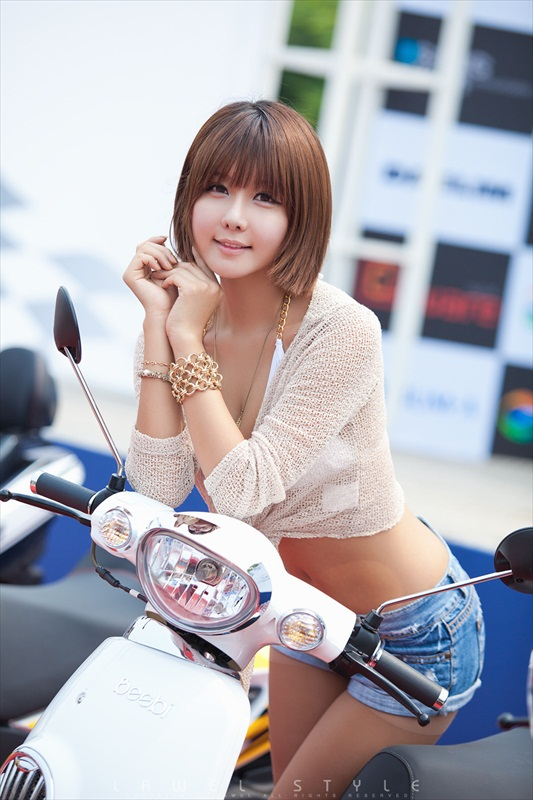 Adult Love Ryu Ji Hye In A Scooter Model Outfit