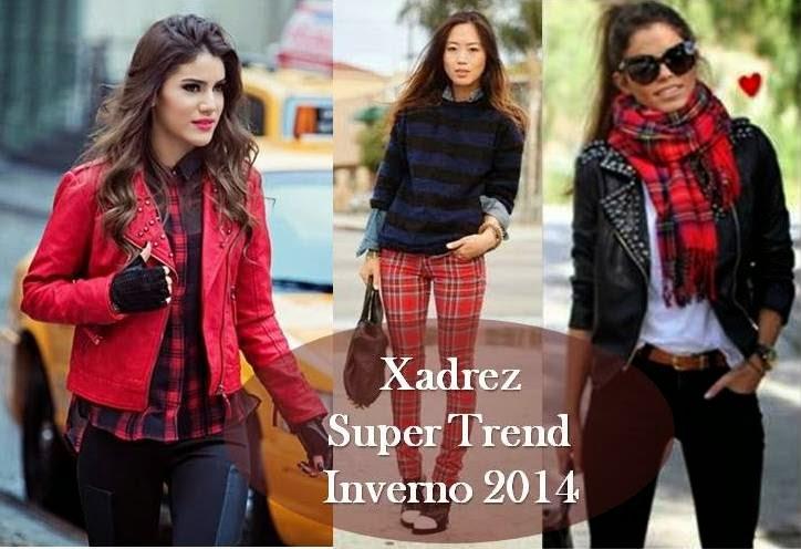 Xadrez Vermelho Super Trend Inverno 2014