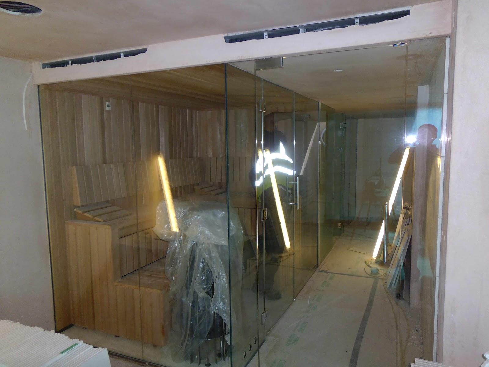 luxury saunas steam rooms by leisurequip contemporary bespoke sauna installation. Black Bedroom Furniture Sets. Home Design Ideas