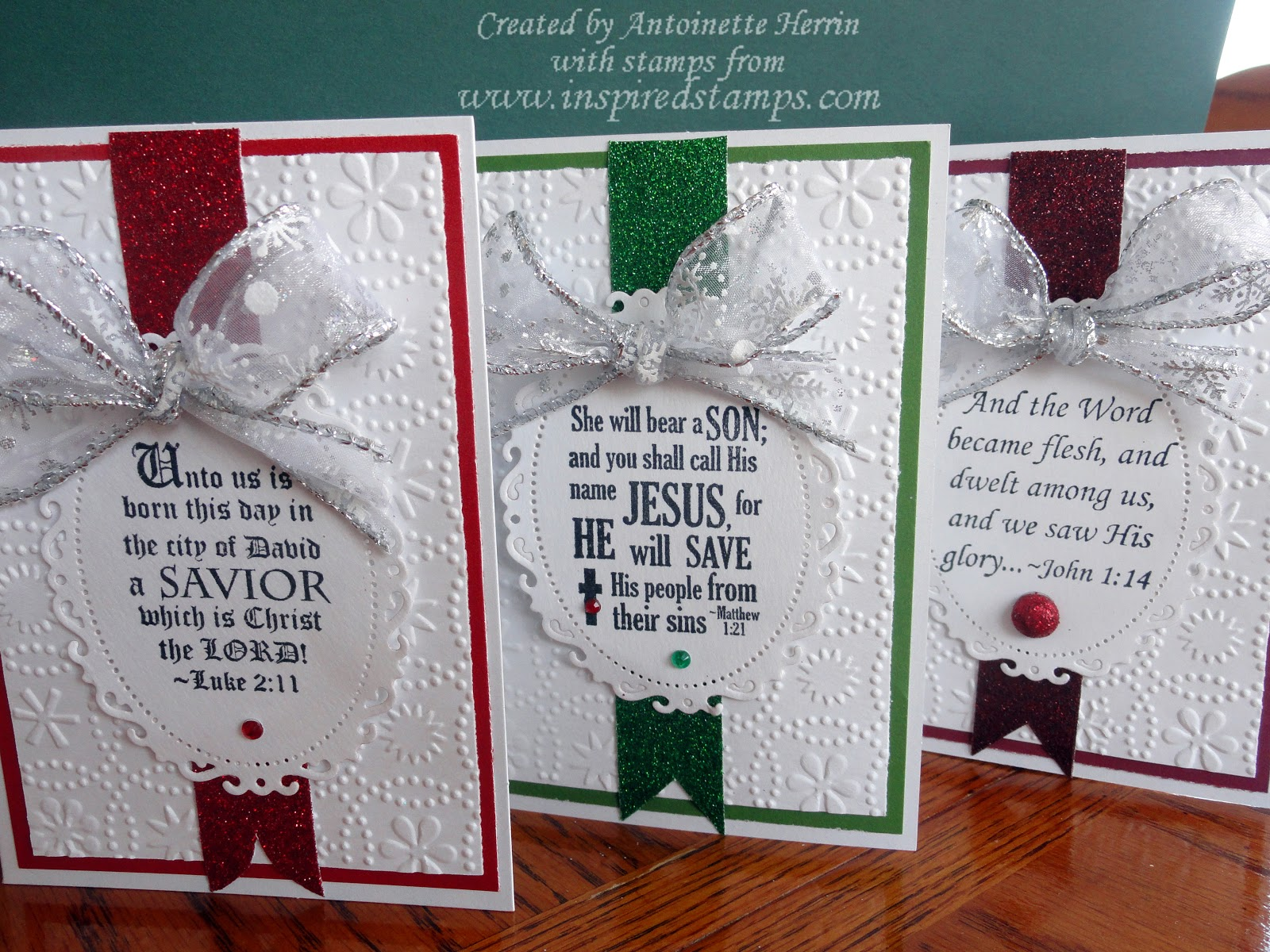 inspired stamps...the blog: How to make your own Christmas Cards in sets