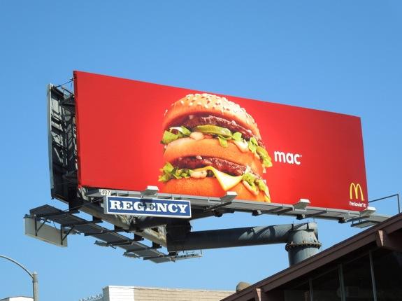 McDonalds Big Mac billboard 2013