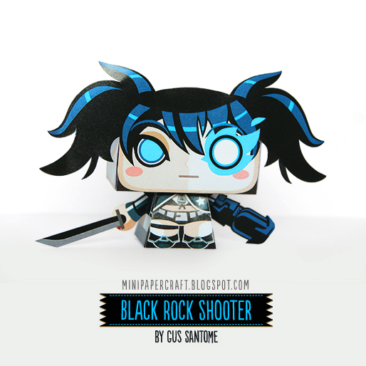 Mini Black Rock Shooter Paper Toy