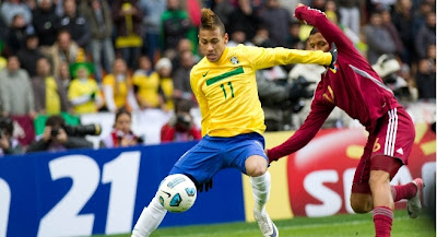 keputusan perlawanan brazil vs venezuela copa america 2011, brazil vs venezuela gol copa america 2011, neymar brazil copa america 2011,kumpulan B copa america 2011