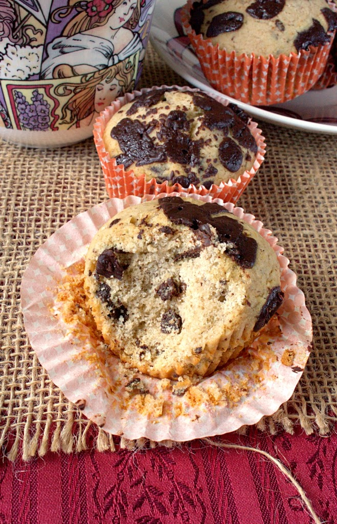 Dark Chocolate Buckwheat Muffins - Gluten free and good for you